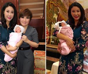 Hoa hậu Hà Kiều Anh tổ chức tiệc đầy tháng hoành tráng cho con gái