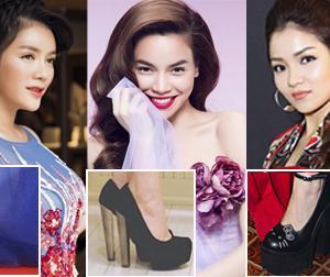 Mỹ nhân Việt diện giày 'cà kheo' khiến mọi người thót tim