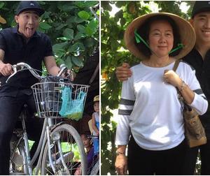 Hơn 230 ngàn like cho bức ảnh Trấn Thành đèo mẹ bằng xe đạp
