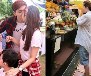 Tin sao Việt mới ngày 26/6: Vợ chồng Tim hôn nhau đắm đuối, Quỳnh Nga mặc quần ngố đi lễ chùa