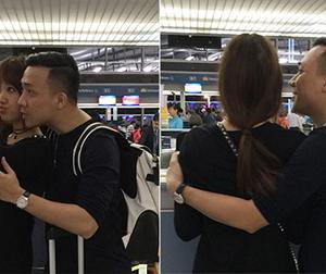 Trấn Thành và Hari Won tiếp tục diễn 'phim tình cảm' ở sân bay
