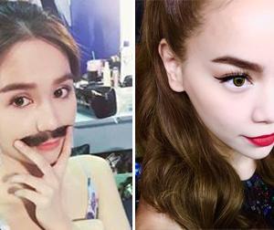 Tin sao Việt mới ngày 25/7: Ngọc Trinh đeo râu giả trai, mắt Hồ Ngọc Hà long lanh nhờ đeo lens