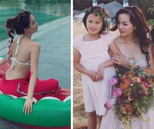Tin sao Việt mới ngày 26/7: Ngọc Trinh mặc đồ mát mẻ ở hồ bơi, con gái Ngọc Thúy làm người mẫu ảnh cùng mẹ