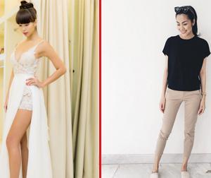 Tin sao Việt mới ngày 28/7: Hà Anh thử váy cưới khoét ngực hở lưng, Hà Tăng trẻ trung với set đồ giản dị