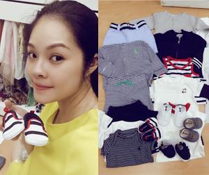 Dương Cẩm Lynh khoe hàng loạt đồ sắm cho con trai đầu lòng