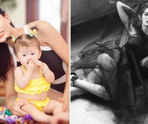 Tin sao Việt mới ngày 25/8: Trang Trần xinh đẹp bên con gái, 'Tấm' Hạ Vi gợi cảm hút hồn