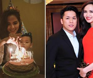 Diễm Hương lên tiếng về thông tin chồng vắng mặt trong tiệc sinh nhật