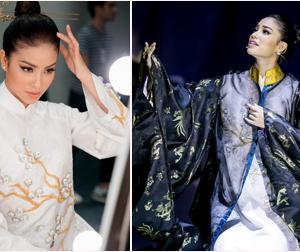 Phạm Hương lần đầu hát cải lương trên sàn diễn thời trang