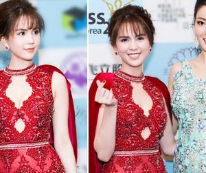 Hoa hậu Hàn Quốc bị lu mờ khi đứng cạnh Ngọc Trinh