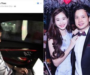 Hoa hậu Thu Thảo lần đầu công khai bạn trai đại gia trên Facebook