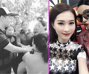 Tin sao Việt mới 26/10: Phan Anh nắm chặt tay bà con miền lũ lụt, Thu Thảo đọ sắc với Thanh Hằng