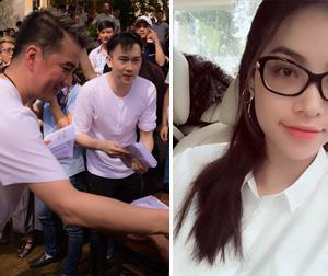 Tin sao Việt mới 27/10: Mr.Đàm về thăm đồng bào lũ lụt, Phạm Hương đẹp giản dị khi đeo kính