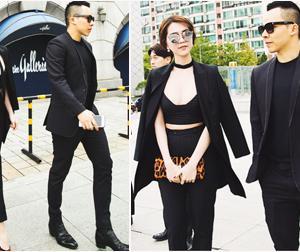 Ngọc Trinh - Khắc Tiệp 'dính nhau như sam' khoe street style cực chất ở Hàn