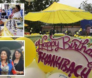 MC Thanh Bạch tổ chức tiệc sinh nhật 'dị' và hoành tráng tại nhà riêng