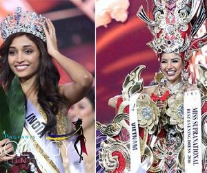 Khả Trang lọt top 25 thí sinh đẹp nhất, người đẹp Ấn Độ đăng quang Hoa hậu Siêu quốc gia 2016