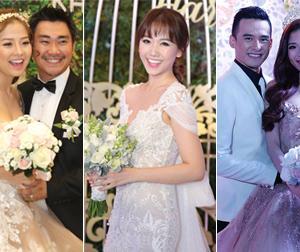 Bóc giá váy cưới trăm triệu của các mỹ nhân Việt trong năm 2016