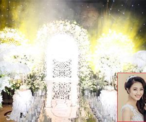Không gian đám cưới như cổ tích của Hoa hậu Thu Ngân và chồng đại gia