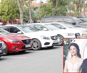 Dàn xế khủng khiến nhiều người 'choáng váng' trong đám cưới Hoa hậu Thu Ngân