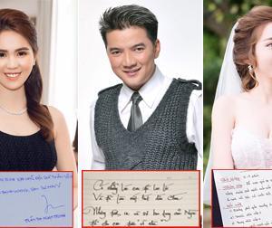 Chữ viết tay xấu - đẹp của sao Việt