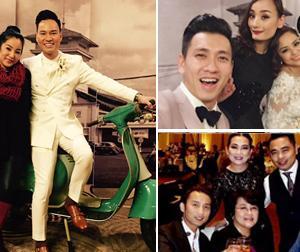 Dàn sao Việt đến tham dự tiệc cưới ca sĩ Đình Bảo