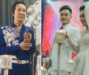 'Ông hoàng cải lương Hồ Quảng' Vũ Linh tái xuất trẻ trung trong đám cưới cháu gái