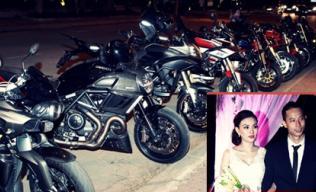 Tròn mắt trước dàn siêu xe rước dâu hoành tráng của đám cưới sao Việt