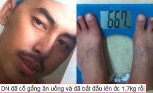 Duy Nhân tăng cân sau khi nỗ lực ăn uống