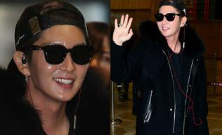 Lee Jun Ki lộ mặt bóng nhẫy như bôi mỡ ở sân bay