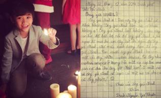 Ngộ nghĩnh với bức thư con trai Kim Hiền gửi ông già Noel