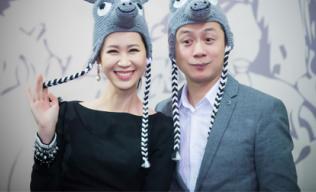Dương Thùy Linh và MC Anh Tuấn hóa thân thành 'tê giác'