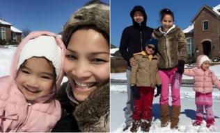 Hồng Ngọc 'quậy hết cỡ' cùng gia đình trên tuyết