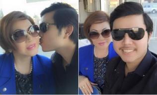 Vũ Hoàng Việt hạnh phúc hôn má người tình