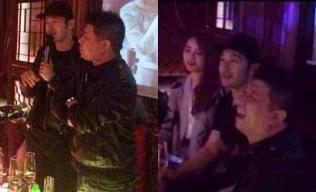 Huỳnh Hiểu Minh lộ ảnh đi hát, chơi xúc xắc với tiếp viên karaoke
