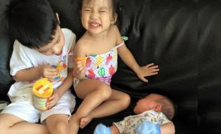 Cười nghiêng ngả trước điệu bộ siêu hài của 3 con Ốc Thanh Vân