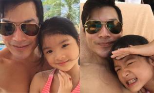 Trần Bảo Sơn nhắng nhít bên con gái ngày cuối tuần