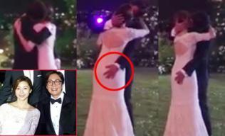 Bae Yong Joon bị chỉ trích vì 'bàn tay hư hỏng' khi khiêu vũ với vợ
