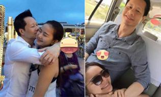 Phan Như Thảo hạnh phúc khoe ảnh chồng ôm hôn và kè kè ở bên