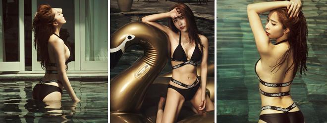 'Cá sấu chúa' Quỳnh Nga đốt mắt mọi ánh nhìn diện bikini ở hồ bơi