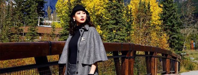 Hoa hậu Hà Kiều Anh khoe sắc giữa trời thu