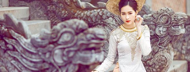 Hoa hậu Đặng Thu Thảo hóa thiếu nữ xưa đài các, kiêu sa
