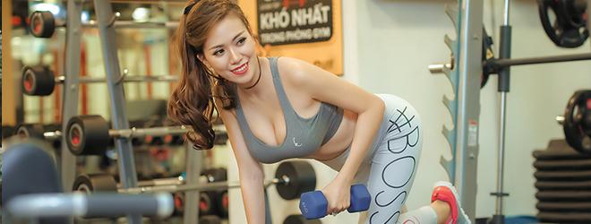 'Gái một con' Mai Thỏ nóng bỏng trong phòng Gym