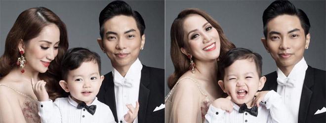 Kubi cười rạng rỡ bên bố mẹ Phan Hiển - Khánh Thi