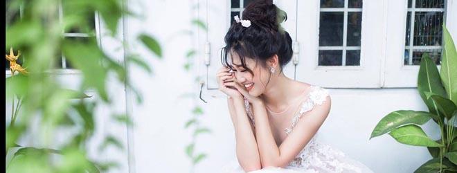 Á hậu Thanh Thanh Tú hóa cô dâu xinh đẹp khi mặc váy cưới