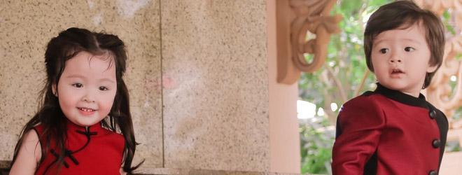 Cadie Mộc Trà, Alfie Túc Mạch cực đáng yêu trong bộ ảnh Trung thu