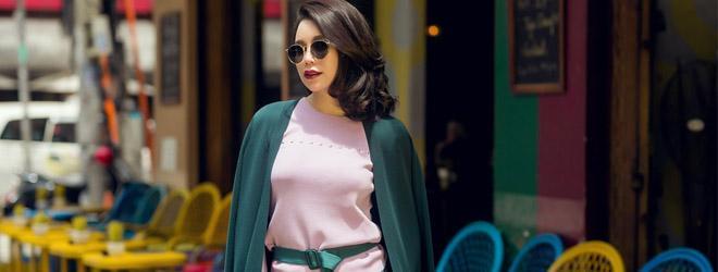 Trà Ngọc Hằng 'chơi sắc màu' với thời trang đường phố