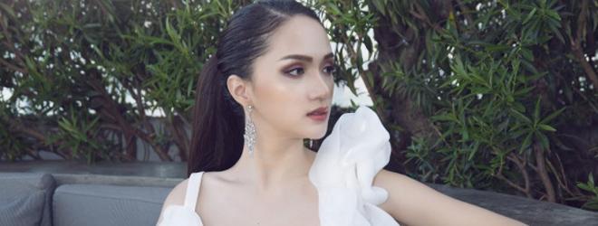 Hoa hậu Hương Giang đẹp lộng lẫy quay quảng cáo tại Thái Lan