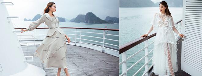 Phạm Hương khoe vóc dáng quý phái trên du thuyền triệu đô