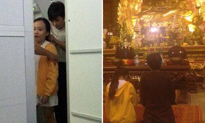 Phương Thanh đưa con gái yêu đi lễ chùa
