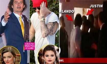Justin Bieber và Orlando Bloom ẩu đả trong nhà hàng vì ghen tuông