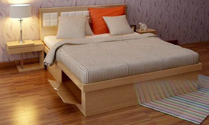 Bố trí nội thất phòng ngủ 10m² của đôi vợ chồng trẻ